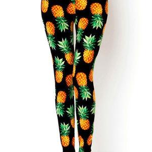 3f50d4abd53123 NEW MIX Pants | Soft Brush Leggings Pineapple Plus Size | Poshmark